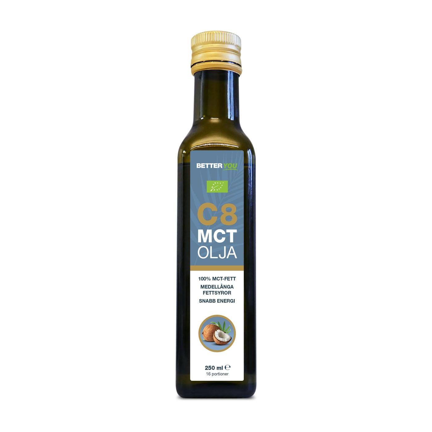 Ekologisk C8 MCT Olja - 250 ml