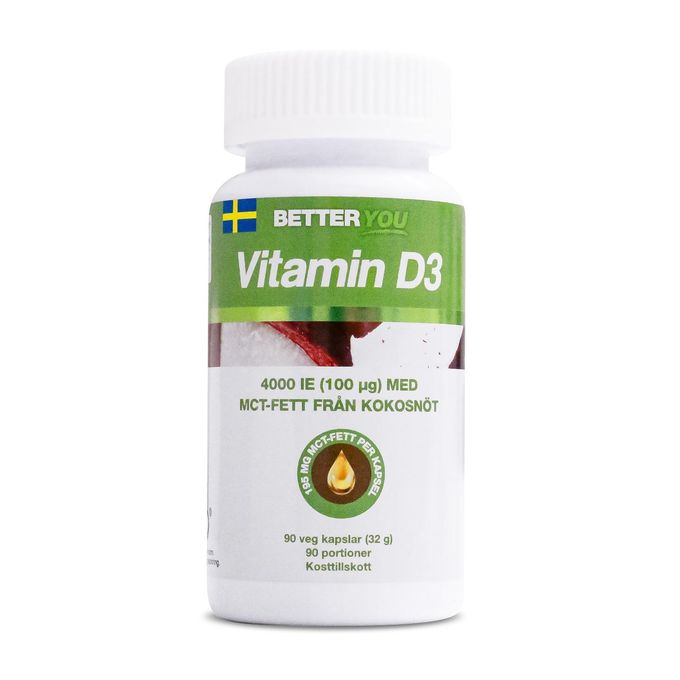 Vitamin D3 4000 IE + MCT-FETT