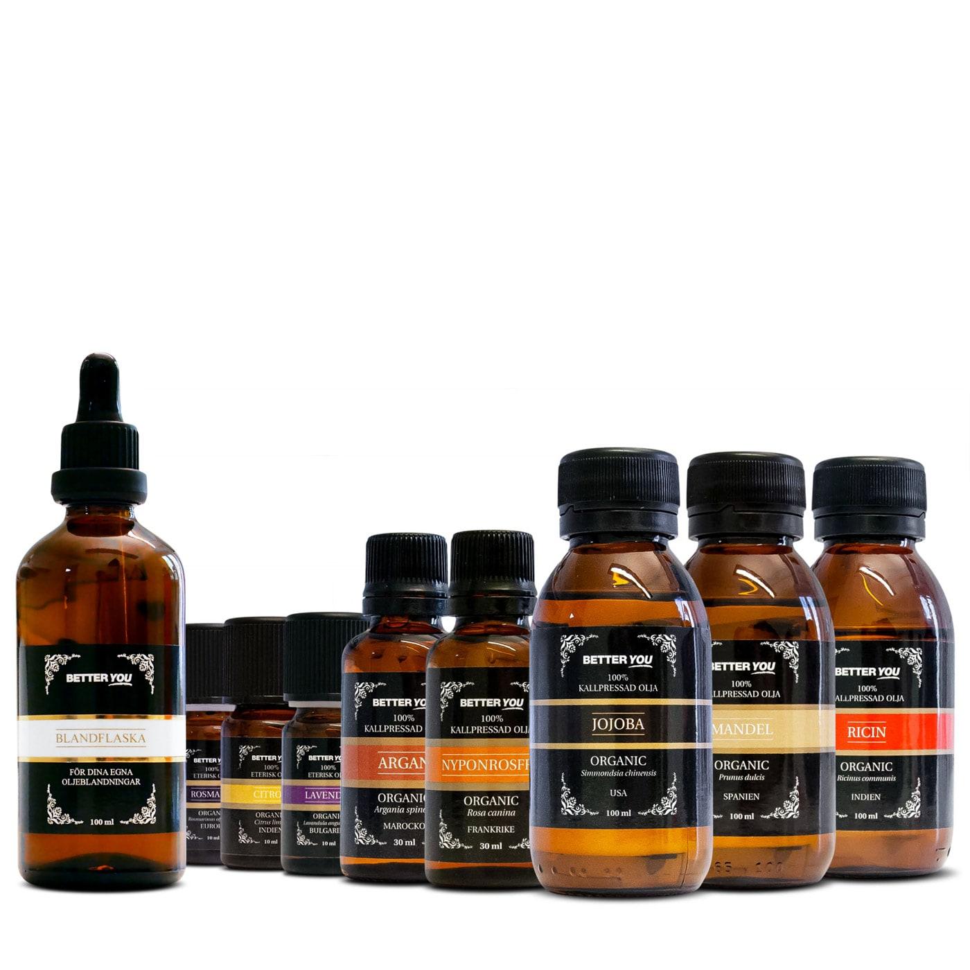 Hår- & hudvårdspaket - Oljor