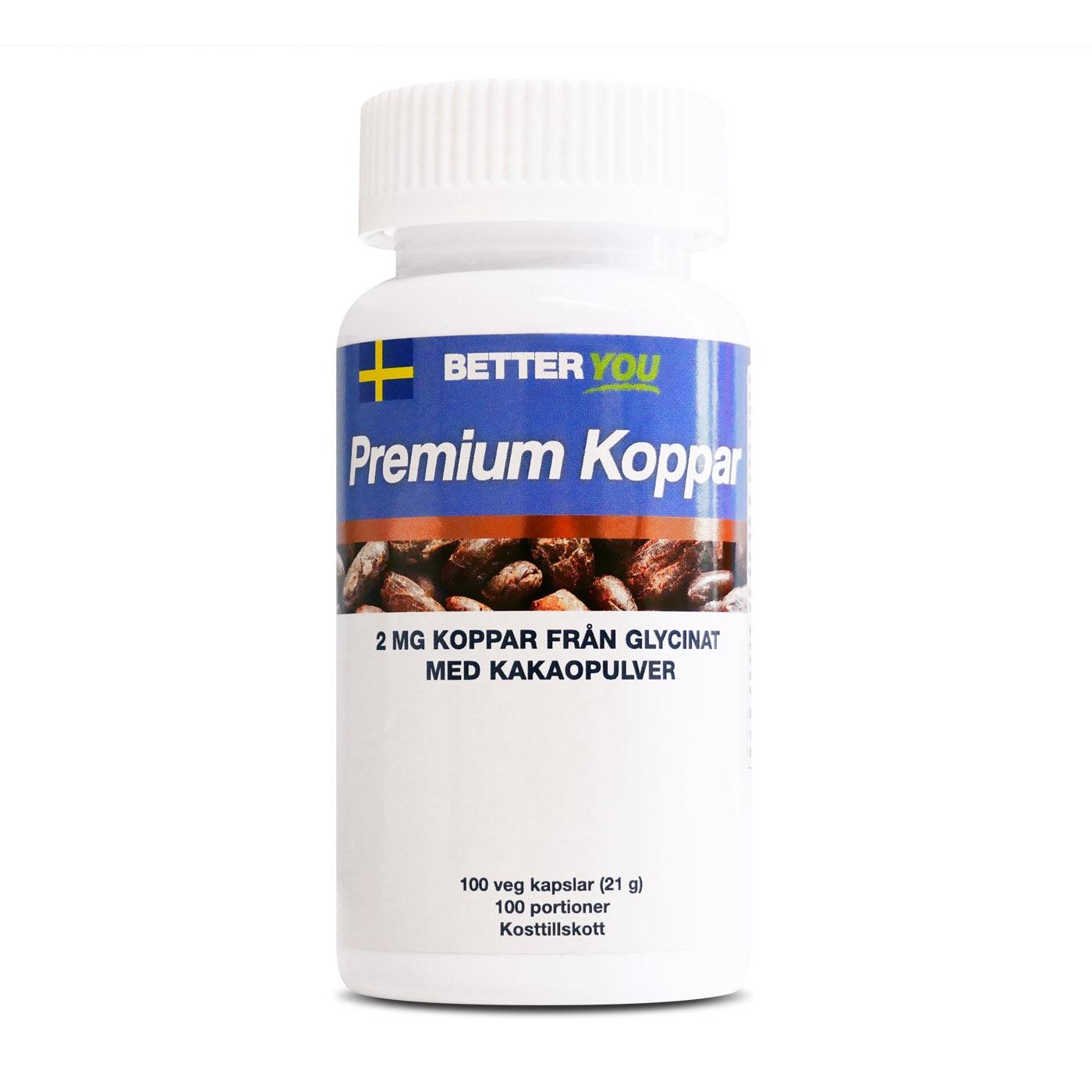 Premium Koppar - 100 kaps