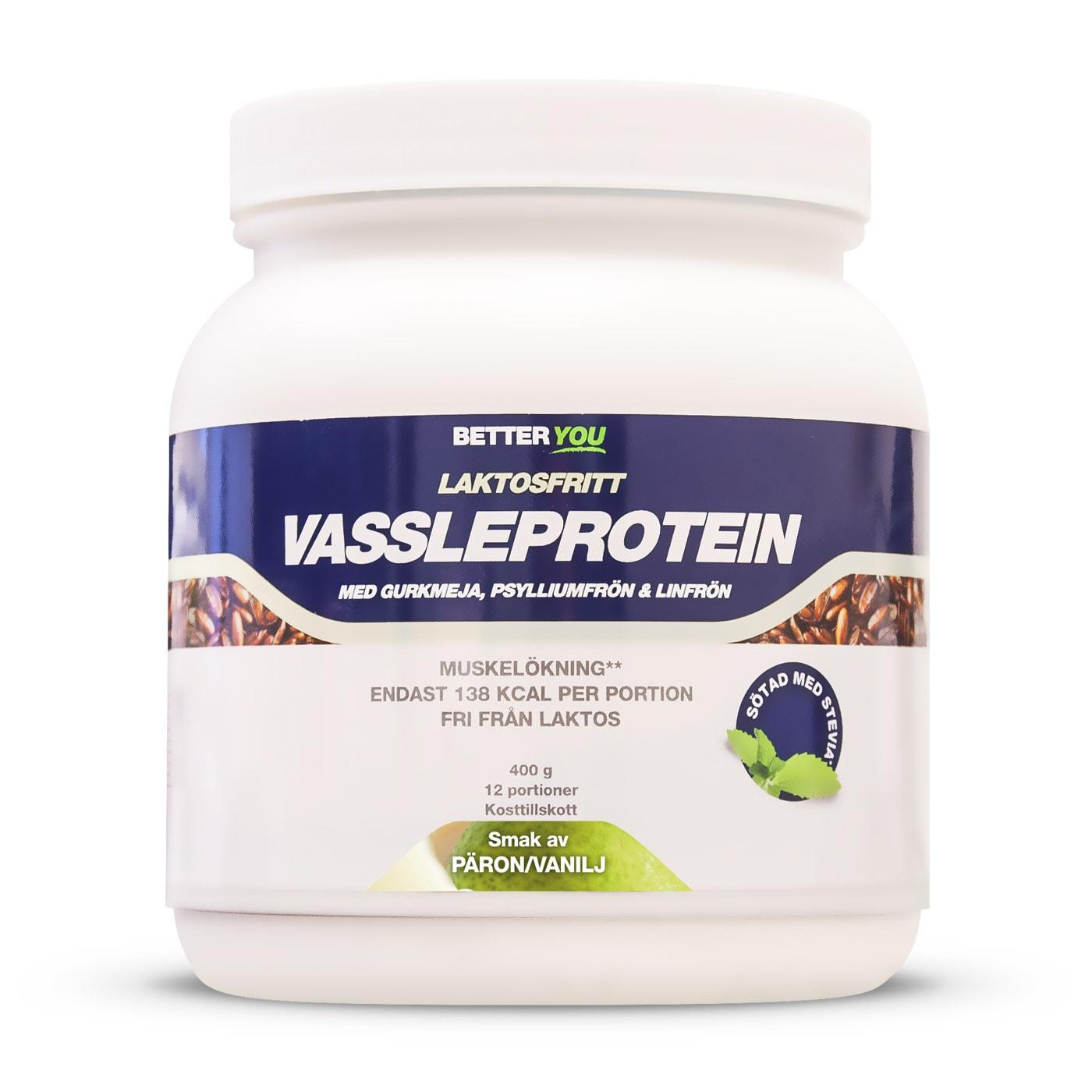 proteinpulver päron vanilj