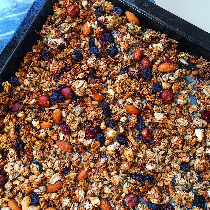 Granola med protein