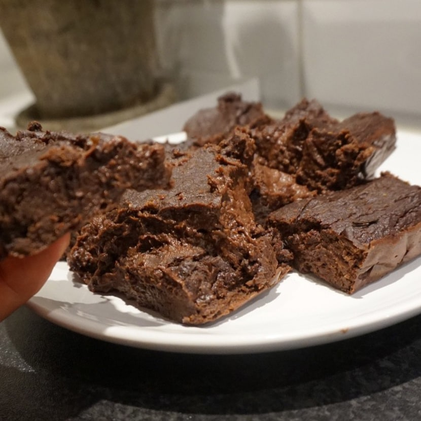 Längfors kladdiga protein brownie