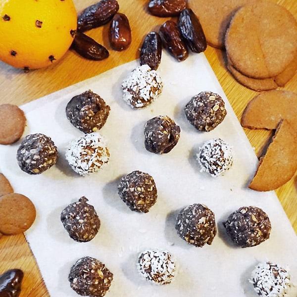 Pepparkaksbollar med protein